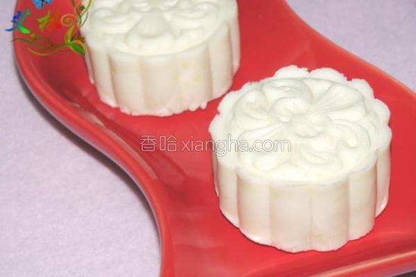 椰香冰皮月饼的做法