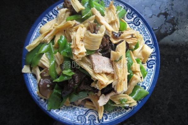 腐竹肉片的做法