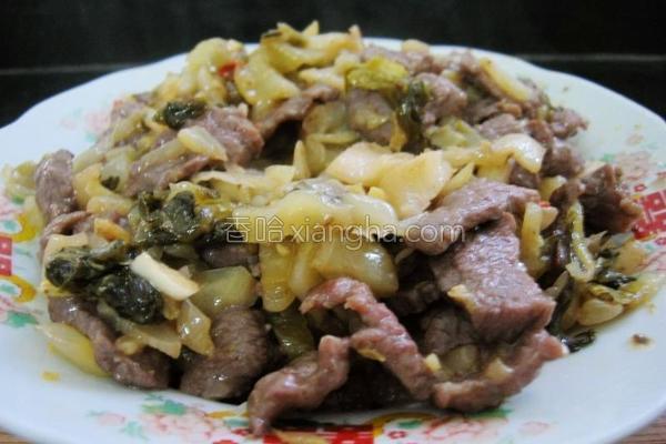 牛肉炒酸菜的做法