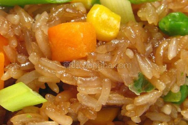 香炒糯米饭的做法