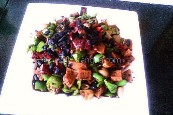 辣炒豆豉豆干的做法