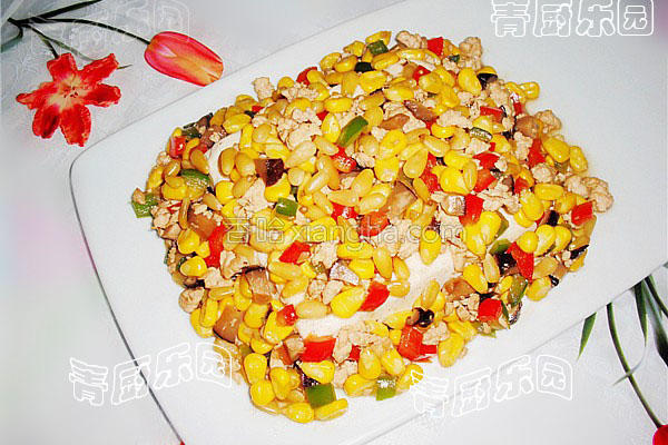 松仁香菇酱扒豆的做法