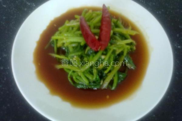 蚝油菠菜的做法