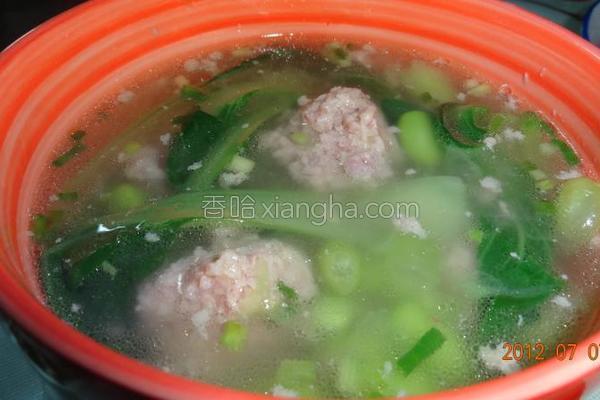 毛豆米瘦肉汤的做法