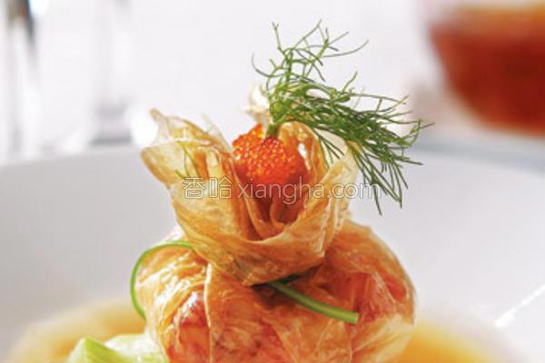 腐皮龙虾饺的做法