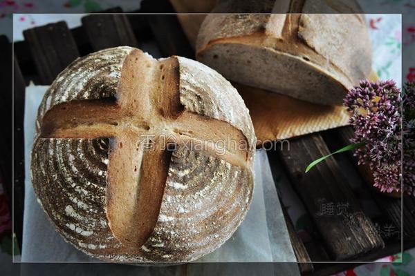 黑麦混麦面包的做法
