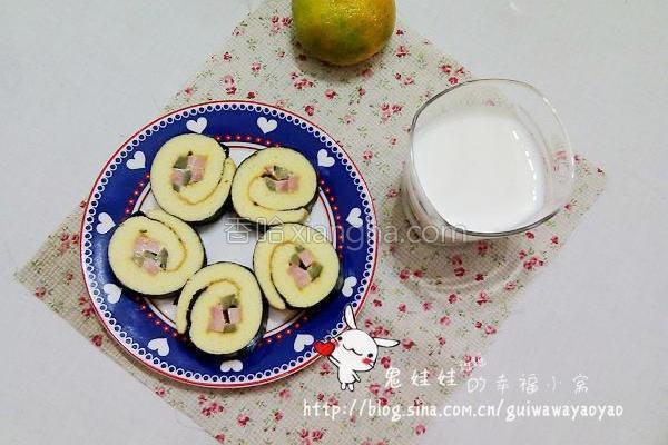 沙拉海苔蛋糕卷的做法