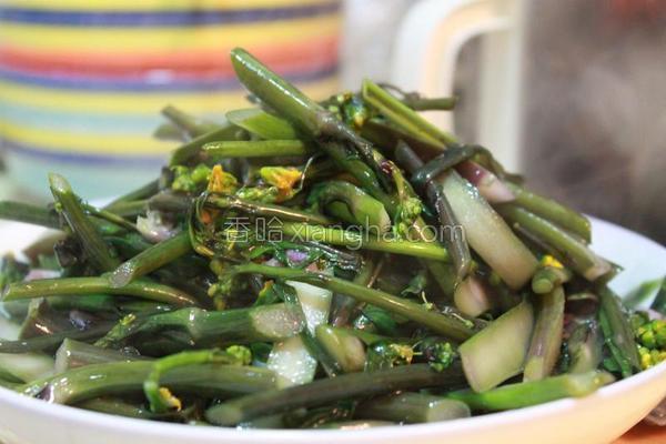 蒜炒红菜苔的做法