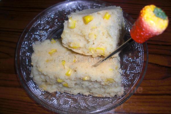 奶香玉米蛋糕的做法