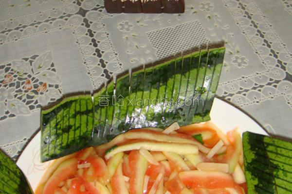 清炒西瓜皮的做法