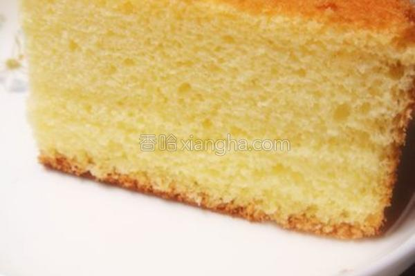 原味海绵蛋糕的做法