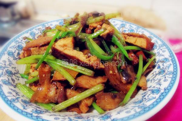 西芹豆干回锅肉的做法