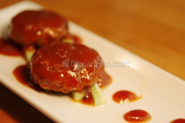 苹果香菇小肉饼的做法