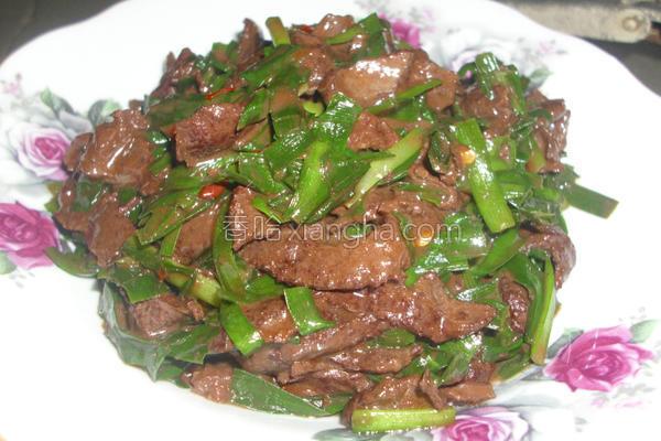 韭菜炒夹肝的做法