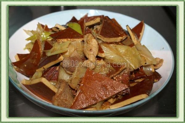 酱香大葱豆干的做法
