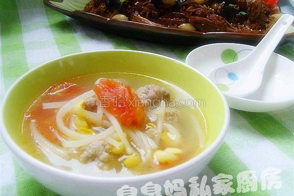 银牙丸子汤的做法