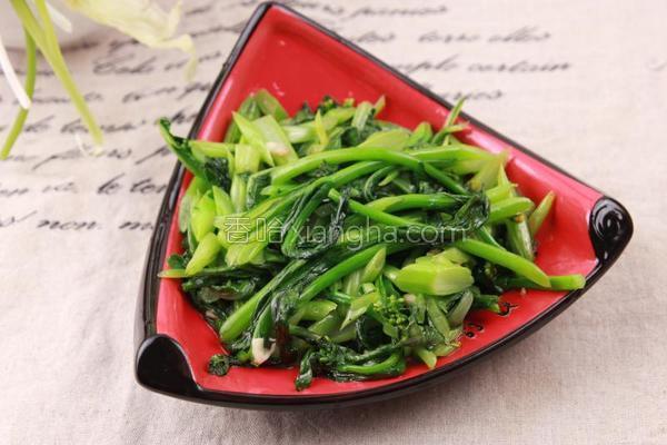清炒菜苔的做法