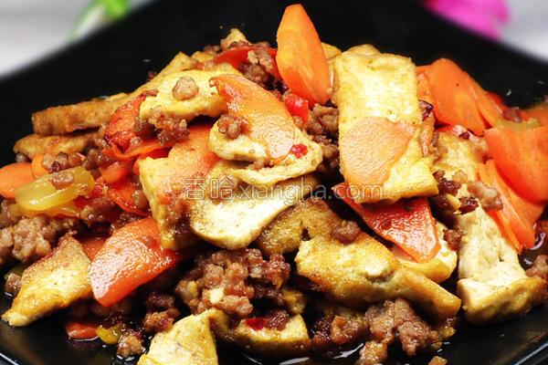 香辣肉末烧豆腐的做法