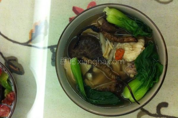 虫草花胶炖香螺汤的做法
