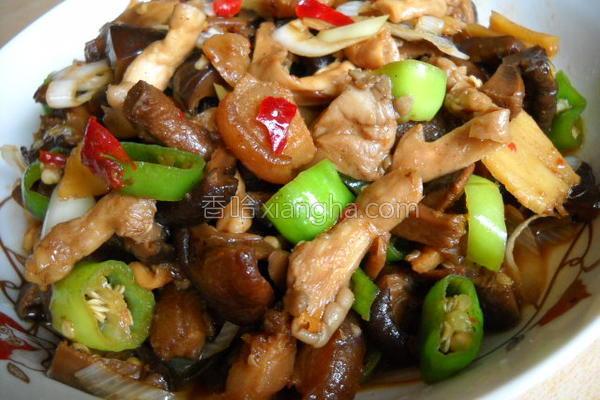 酱香杭椒双菇的做法