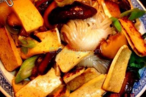 蚝油炒冬菇魔芋丝的做法