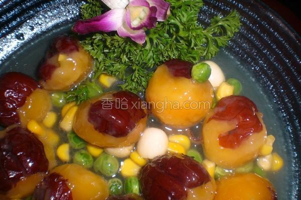 红枣糯米圆的做法