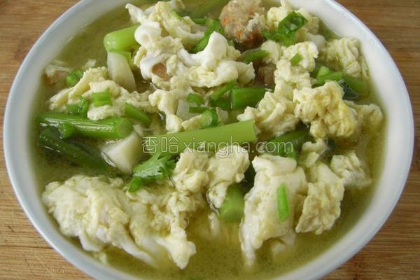 鸡蛋海米炖蒜薹的做法