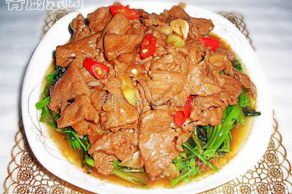 沙茶牛肉的做法