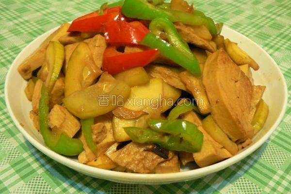 西葫芦炒素鸡的做法