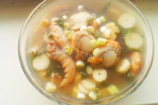 扇贝海鲜汤的做法