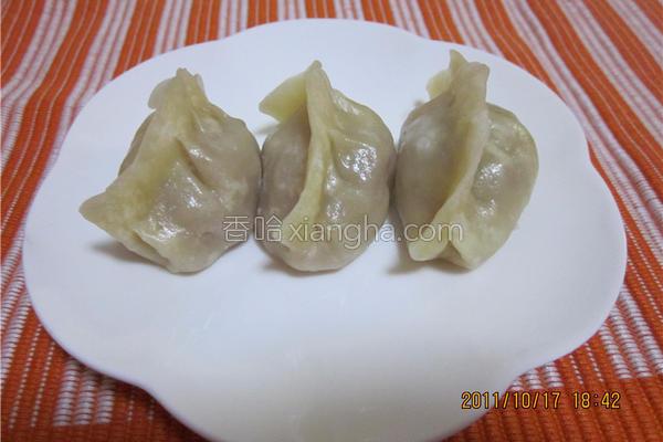 萝卜虾皮蒸饺的做法