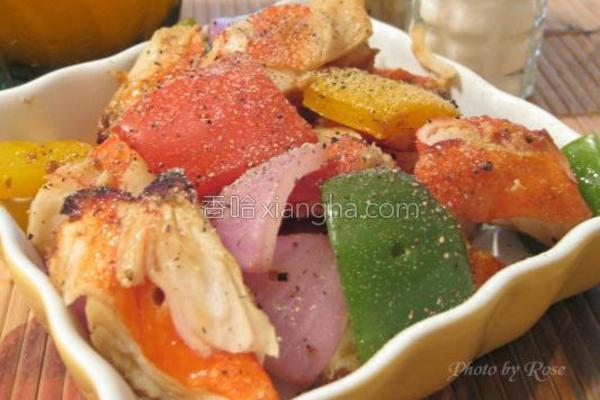 烤蟹肉灯笼椒的做法