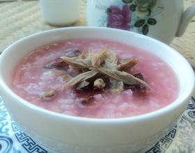 红菇鸭丝粥