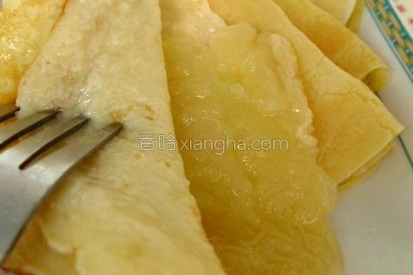苹果牛奶鸡蛋饼的做法