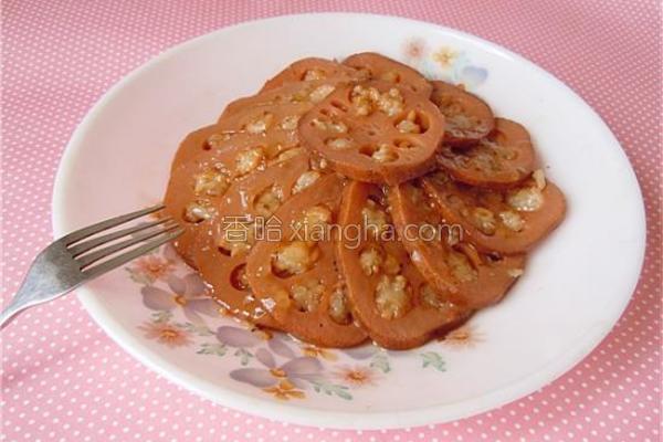 蜜汁桂花糯米藕的做法