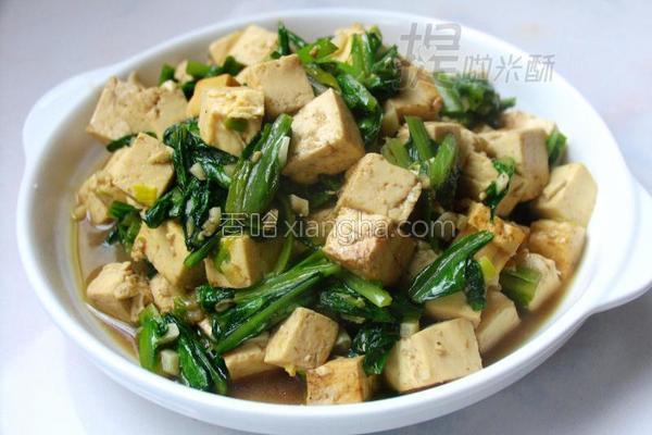 油麦菜炖豆腐的做法