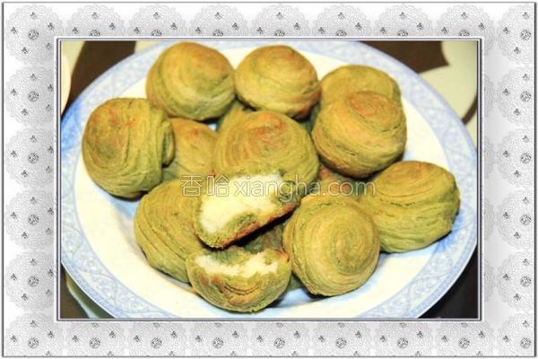 抹茶椰蓉小小酥的做法