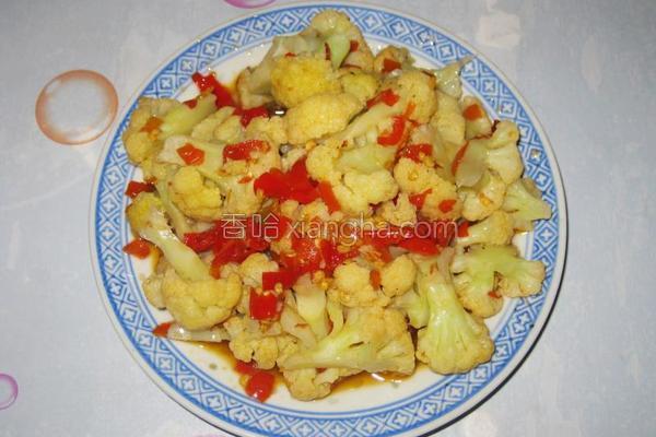 剁椒炒花菜的做法