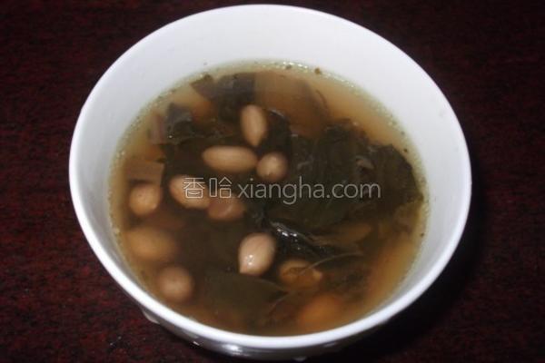 白菜干花生汤的做法