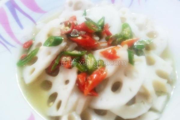 辣椒拌藕片的做法