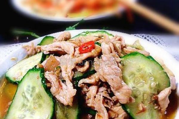 青瓜烩肉片的做法