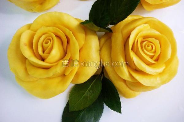 南瓜玫瑰馒头的做法
