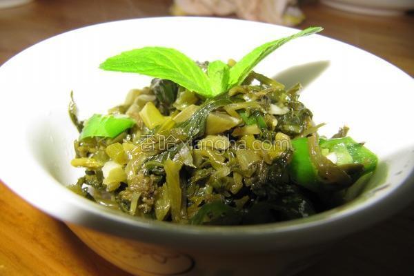 炒苦菜苔的做法