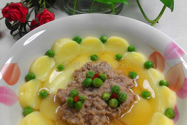 豌豆玉子蒸的做法