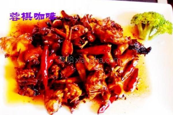小公鸡炒老姜的做法
