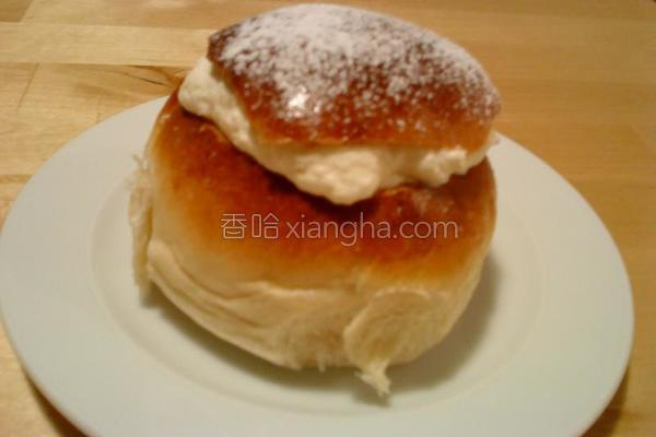 奶油小园面包的做法
