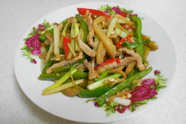 榨菜炒三丝的做法