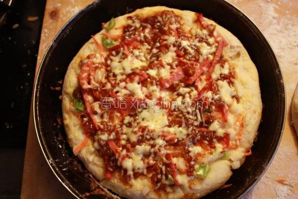 新鲜蔬菜匹萨的做法