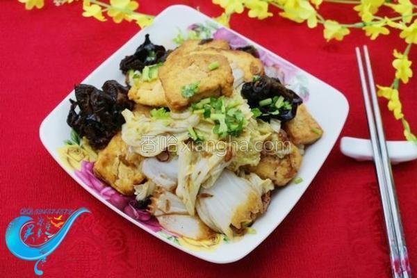 白菜虾皮豆腐的做法