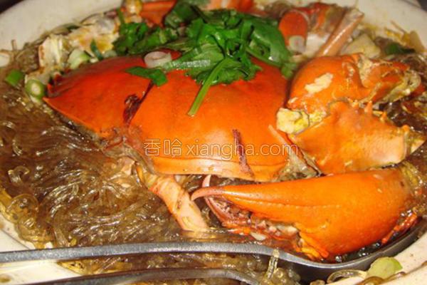大闸蟹冬粉煲的做法